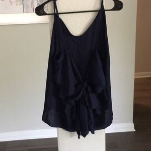 Tops - Dark Blue flowy tank top
